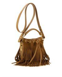 Saint Laurent | Brown Emmanuelle Small Suede Cross-Body Bag | Lyst