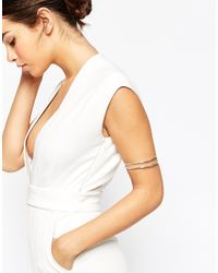 ASOS | Metallic Sleek Arm Cuff | Lyst