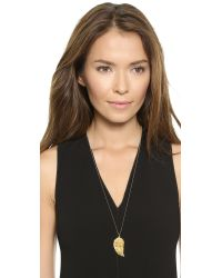 Heather Hawkins - Metallic Angel Wing Necklace - Yellow Gold - Lyst