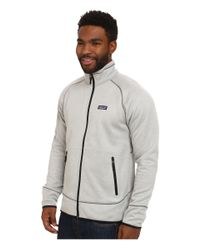 Patagonia - White Tech Fleece Jacket for Men - Lyst