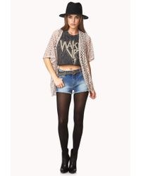 Forever 21 | Natural Boho Doll Open-Knit Cardigan | Lyst