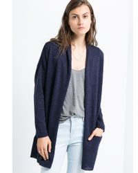 Mango | Blue Long Cotton Cardigan | Lyst