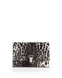 Proenza Schouler - Black Small Leopardprint Calf Hair Lunch Bag - Lyst