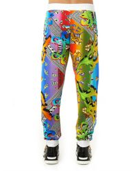 Versus - Green Rainbow and Logo-print Track Pants for Men - Lyst