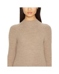 Ralph Lauren - Brown Merino Wool Ribbed Sweater - Lyst