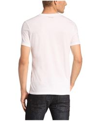 BOSS Orange | White T-shirt 'taiwo' With A Round Neckline for Men | Lyst