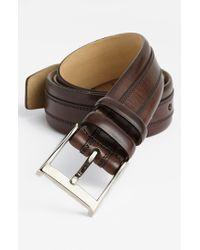 Mezlan - Brown 'napa' Belt for Men - Lyst