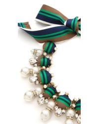 Tory Burch | Green Insley Necklace - Stripe Multi/Antique Bronze | Lyst