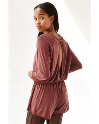 Silence + Noise | Brown Donni Romper | Lyst
