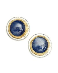 Gurhan - Metallic Kyanite And Silver 'cirrus' Stud Earrings - Lyst