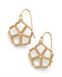 Trina Turk | White Crystal Drop Earrings | Lyst