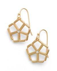 Trina Turk   White Crystal Drop Earrings   Lyst