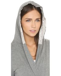 Splendid | Gray Loungy Robe - Light Blue Heather | Lyst