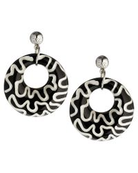 Zandra Rhodes - Black Wiggle Earrings - Lyst