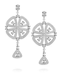 Kenneth Jay Lane - Metallic Silver-tone Crystal Earrings - Lyst