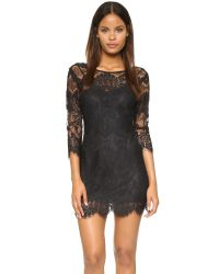 BB Dakota - Black Natalia V Back Lace Dress - Lyst