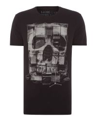 Label Lab | Black Amps Graphic Fit T-shirt for Men | Lyst