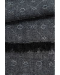 HUGO - Black Scarf In New-wool Blend: 'women-z 444' - Lyst