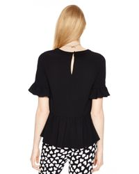 kate spade new york - Black Linda Top - Lyst