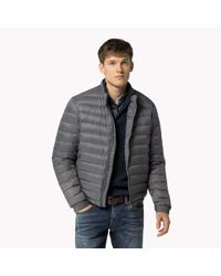 Tommy Hilfiger | Gray Down Bomber for Men | Lyst
