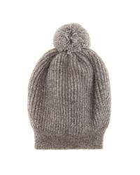 Stella McCartney - Gray Knitted Hat - Lyst
