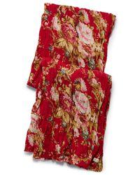 Denim & Supply Ralph Lauren | Red Floral Cotton Scarf | Lyst