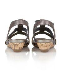 Lotus - Metallic Joda Open Toe Sandals - Lyst