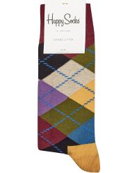 Happy Socks - Multicolor Argyle Socks for Men - Lyst