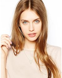 Zoe & Morgan - Metallic Mini Gypsy Heart Drop Necklace - Lyst