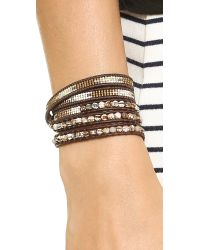 Chan Luu - Brown Beaded Wrap Bracelet  Matte Onyxnatural Black - Lyst