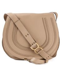 Chloé | Natural Marcie Calf-Leather Shoulder Bag | Lyst