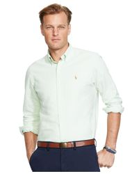 Polo Ralph Lauren - Green Big And Tall Classic-fit Oxford Shirt for Men - Lyst