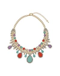 TOPSHOP | Blue Pastel Stone Bling Necklace | Lyst