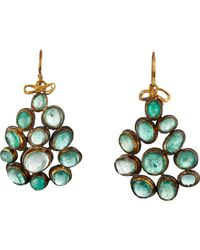 Judy Geib - Green Emerald Cabochon Drop Earrings - Lyst