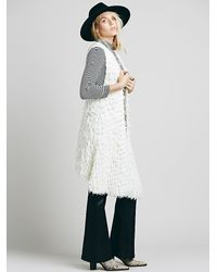 Free People | White Womens Rolling Stone Fur Vest | Lyst