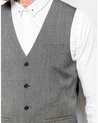 ASOS | Gray Super Skinny Waistcoat In Salt And Pepper for Men | Lyst