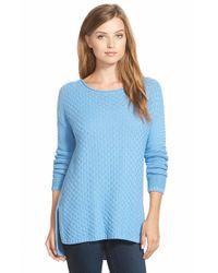 Vince Camuto Blue Rib Stitch Sweater