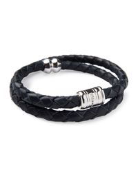 Miansai | Blue Silver Leather Casing Bracelet for Men | Lyst