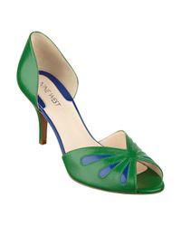 Nine West - Green Orlega Peep Toe Pump - Lyst