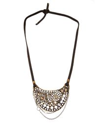Beth Orduna - Metallic Crystal Bib Necklace - Lyst