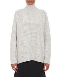 Won Hundred | White Waffle Knit Turtleneck Sweater | Lyst