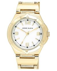 Anne Klein | Metallic Round Bracelet Watch | Lyst
