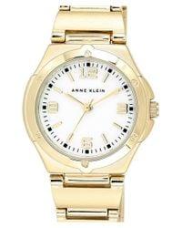 Anne Klein - Metallic Round Bracelet Watch - Lyst
