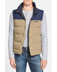 Patagonia - Natural 'bivy' Water Repellent Traceable 600 Fill Power Down Vest for Men - Lyst