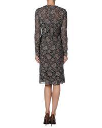 Valentino - Brown Knee-length Dress - Lyst