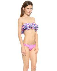 Zinke - Multicolor Reese Bandeau Bikini Top - Cobalt Chevron Print - Lyst