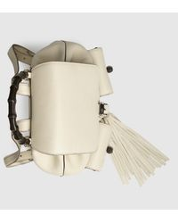 Gucci | Natural Bamboo Leather Backpack | Lyst