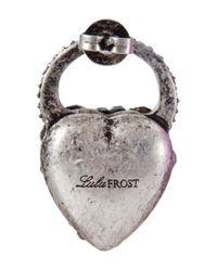 Lulu Frost - Metallic Blackheart Stud Earring - Lyst