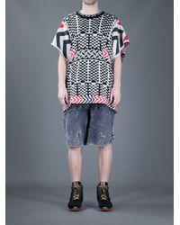 Bernhard Willhelm - White Chevron Print Tshirt for Men - Lyst