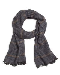 Brooks Brothers | Gray Tweed Print Scarf for Men | Lyst